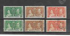 Trinidad and Tobago, 1937 Coronation, MLH & FU sets,
