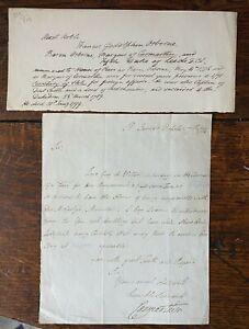 Antique Signed Letter Francis Osborne 5th Duke of Leeds Carmarthen 1784