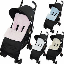 Marshmallow Super Soft Footmuff compatible with Silver Cross Cosy Toes Pushchair
