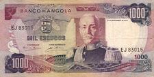 BILLET BANQUE ANGOLA 1000 escudos 1972 état voir scan 015