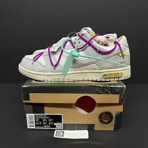 DS OFF-WHITE x Nike Dunk Low Size 10  (lot 21 of 50) New offwhite