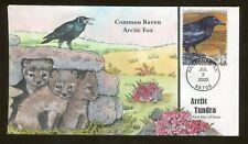 2003 Fairbanks Alaska - Arctic Tundra - Common Raven & Fox - Collins FDC