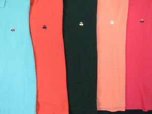 Lot Of 5 Brooks Brothers Short Sleeve Polo Shirts Mens M Medium