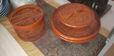 Bamboo Steamer Basket and 5 serving dishes.