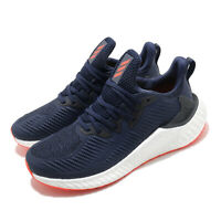 adidas AlphaBOOST M Navy White Solar Red Men Running Training Shoes EG6068