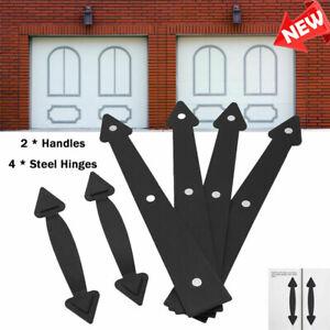 Magnetic Garage Door Accent Decorative Carriage 4 Hinges +2 Handles Hardware New