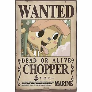 """Official ONE PIECE - Poster """"Wanted Chopper new"""" (91.5x61)"""
