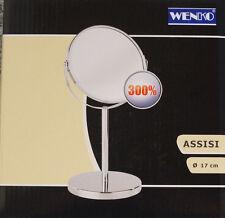 Wenko Kosmetik-Standspiegel ASSISI 17 cm Badezimmer Schminken Schwenkbar