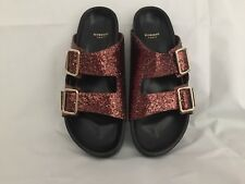 Givenchy Women's Bronze Swiss Glitter Double-buckle Sandal 38