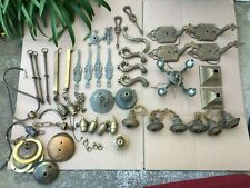 Lot of Vintage Antique Lamp Parts Sockets Hanging Table Ceiling