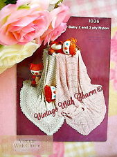 Vintage Baby Shawl Knitting Pattern In 2 Styles, Beautiful & Delicate Patterns