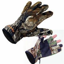 Men's Full Finger Hunting Gloves Bionic Camo Winter Warm Fleece Shooting Golves