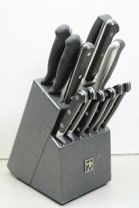 J.A. Henckels Galaxy Kitchen 12 Piece Knives With Black Wooden Block (LOC 47P)