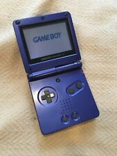 Nintendo Game Boy Advance SP Blue Handheld Model AGS-001 NO Charger Screen Stain