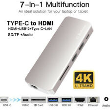 USB C to HDMI 4K+ RJ45 Gigabit Ethernet+ USB 3.1 Type C Hub SD USB C HUB Adapter