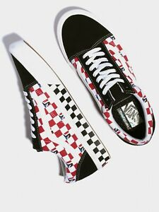 VANS OLD SKOOL COMFYCUSH SKATE SHOES SIZE 10 DIMENSION CHECKERS