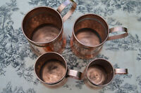 Copper Pitchers Vintage French Copper Set Four Graduated Copper Mugs Cups Tankar