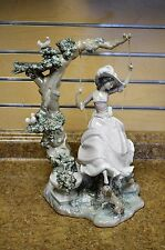 "*Lladro #1297 Victorian Girl on Swing 15.5"" Tall Porcelain Figurine"