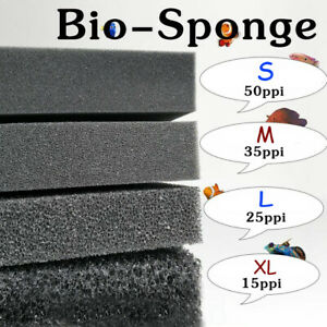 Bio Sponge Filter Media Pads Cut-to-fit Foam for Aquarium Fish Tanks Koi Ponds