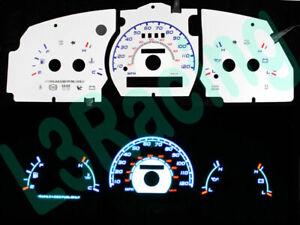 95-97 Ford Explorer w/o Tach Reverse Blue El Glow White Gauge