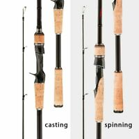 Pro Carbon 3 sections Fishing Rod Travel 1.8-2.7m / 5.9-8.8ft Spinning Casting