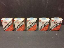 Dealer Lot: 5 Vintage Full Sealed Packs Marvels