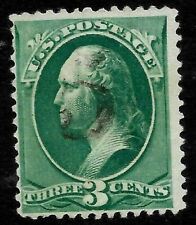 "Fancy Cancel ""Numeral 5"" SON 3 Cent Green Banknote 1871-83 US 91C72"