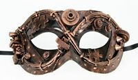 Adult Women's Steampunk Wasteland Halloween Costume Masquerade Bronze Eye Mask