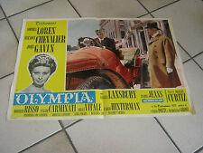 FOTOBUSTA AUTO,CAR,OLYMPIA - SOPHIA LOREN,JOHN GAVIN CHEVALIER