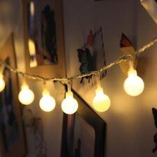 16.4ft 50 LED Globe Ball Fairy String Lights Christmas Light Indoor Decoration