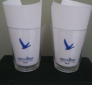 GREY GOOSE VODKA PLASTIC GLASSES NEW SET OF 2