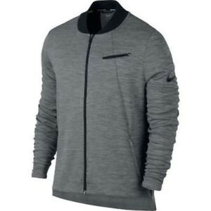 Nike Dry Hyper Elite Basketball Zip Jacket Light Gray Mens Size XL 830833-100