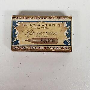 Spencerian Pen Co. No. 13 Engrossing Bronze Pen Nibs Unopened NOS