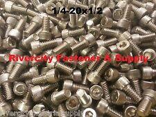 (25) 1/4-20x1/2 Socket Allen Head Cap Screw Stainless Steel 1/4 x 1/2