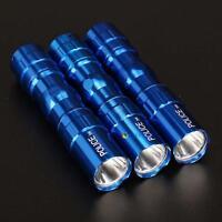 3Pcs 3W Police Waterproof Ultra Bright LED Mini Flashlight Torch Camping Blue UP