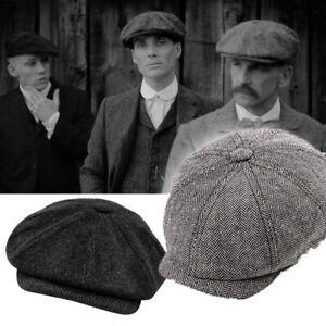 Peaky Blinders Hat Newsboy Flat Cap Plaid Tweed Cotton Baker Boy Unbranded.