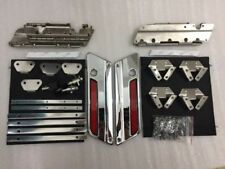 US Chrome Lids Latch Set Cover for Harley-Davidson Saddlebag Latch Hardware Kit
