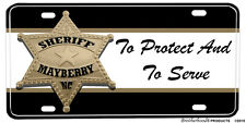 Mayberry NC Sheriff's Badge To Protect & To Serve Aluminum License Plate