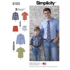 Simplicity Men & Boys Easy Sewing Pattern 8180 Shirt, Boxer Shorts & ...