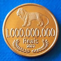 Cabinda 1000 M Reais 2017 UNC Lion