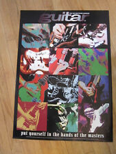 Guitar Magazine Promo poster Stevie Ray Vaughan etc 20x28