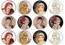 24 Art Deco Wafer Discs *Fun & Fab* Edible Cupcake Toppers