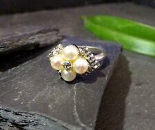 Exclusiver Ring Christian Chr. Dior Germany Perle Zirkonia Modeschmuck Retro