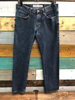 Mens Jeans size 30 x 30 Express Rocco slim fit straight leg, denim blue