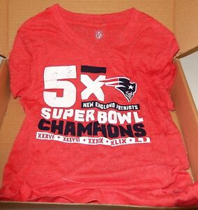 NFL New England Patriots Girls Tee, Red, Large,14, Champion Legacy Short sleeve