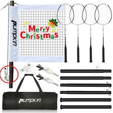 New listing Indoor/Outdoor Portable Complete Badminton Set w/ Net 4 Rackets,2 Shuttlecocks