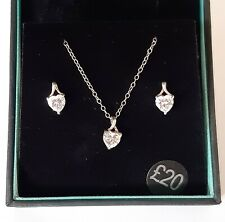 Simply Silver Jon Richard Silver Plated Heart Earing And Necklace Set