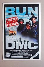 RUN DMC lobby card movie poster Tougher Than lether