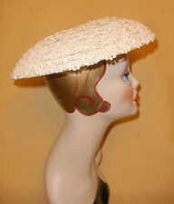 1940's White Scalloped Lace Ladies Hat