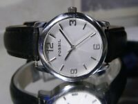 Womens Fossil Easy Reader Watch. Comfortable Leather New Battery 2 Year Warranty